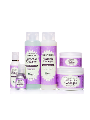 """Pistachio and Collagen"" set with pistachio and collagen Sulfate free"